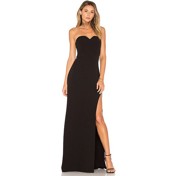 Halston Heritage High Slit Gown ($385) ❤ liked on Polyvore ...