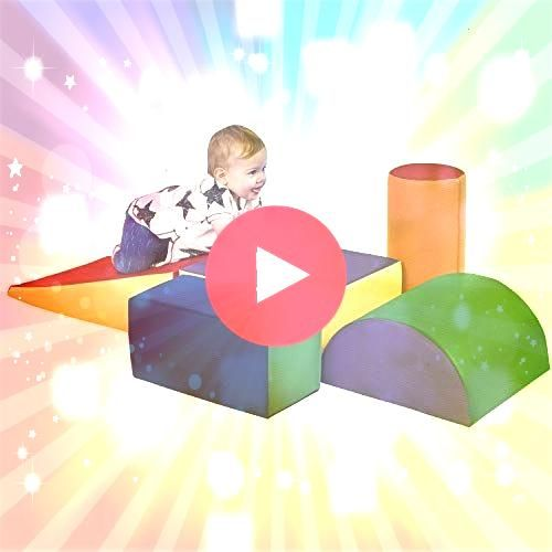 SoftZone Climb and Crawl Foam Play Set for Toddlers and Preschoolers Module Blocks  Set A  B  Classroom Furnishings  Blocks  eSpecial Needs Lincoln Tunnel Climber by ECR4...