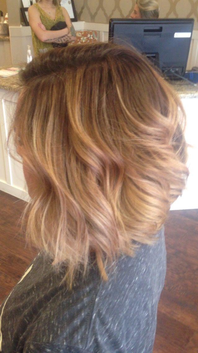 Carmel blonde balayage