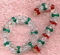 Beaded Cane And Wreath Decorations All Free Crafts Beaded Christmas Decorations Beaded Christmas Ornaments Christmas Bead