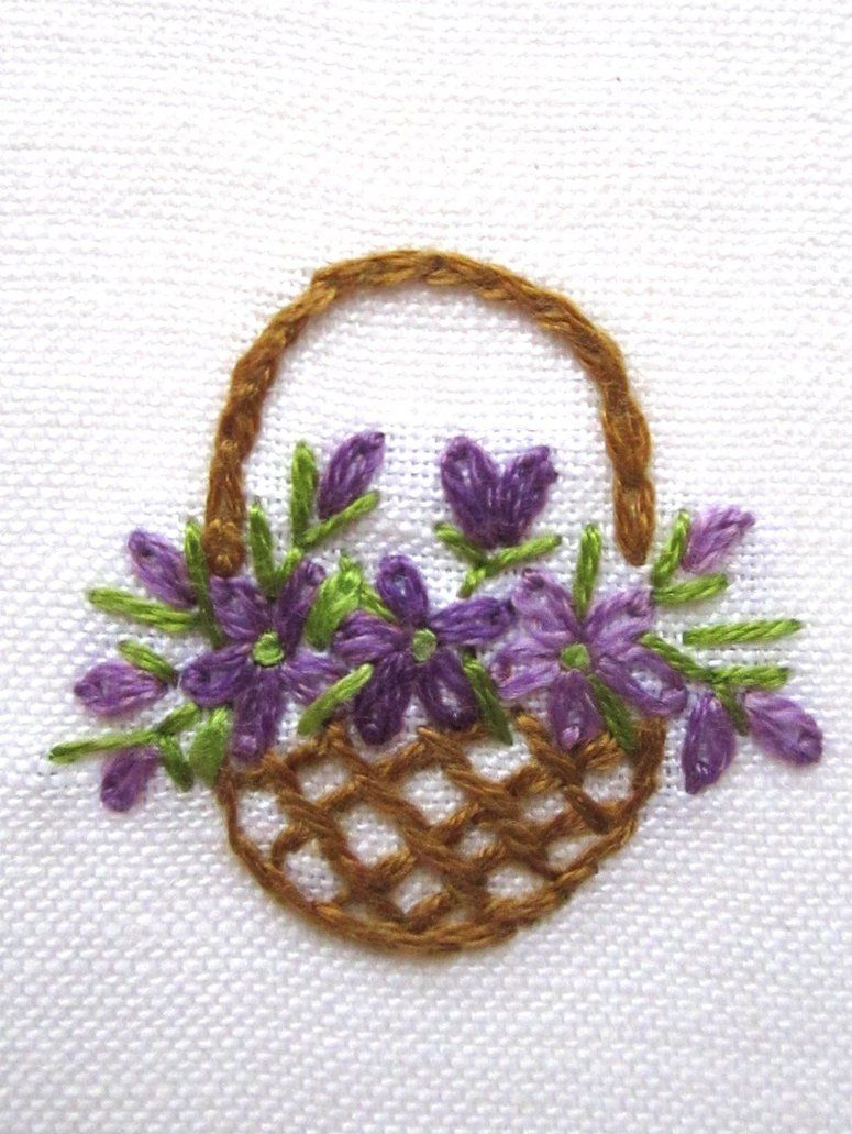 Hand embroidery greeting card by peacockbox on deviantart 장미