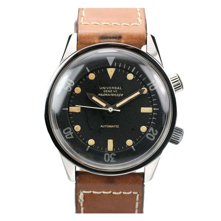 1STDIBS.COM Jewelry & Watches - Universal - UNIVERSAL Geneve Polerouter c. 1960's - Matthew Bain Inc.