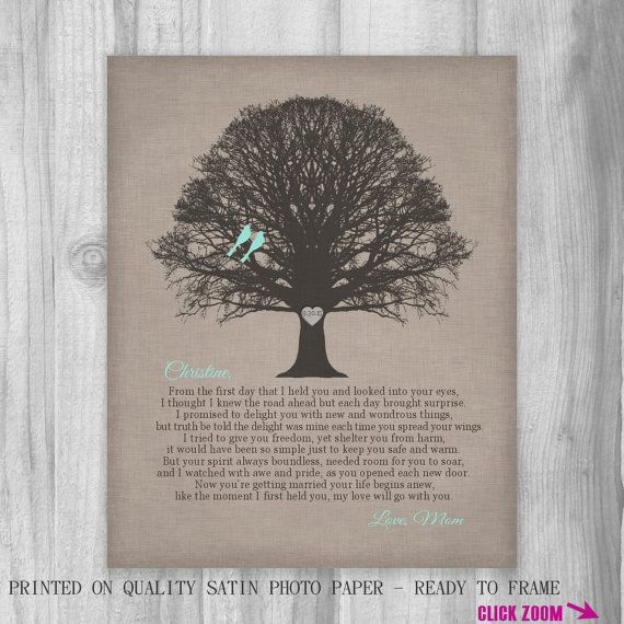 Daughter Gift On Her Wedding Day From Mom Wedding Day Gift For Daughter Gift For Bride From Mother Personalized Art Print Rustic Wedding Daughter Wedding Gifts Mom Wedding Gift Bride Gifts