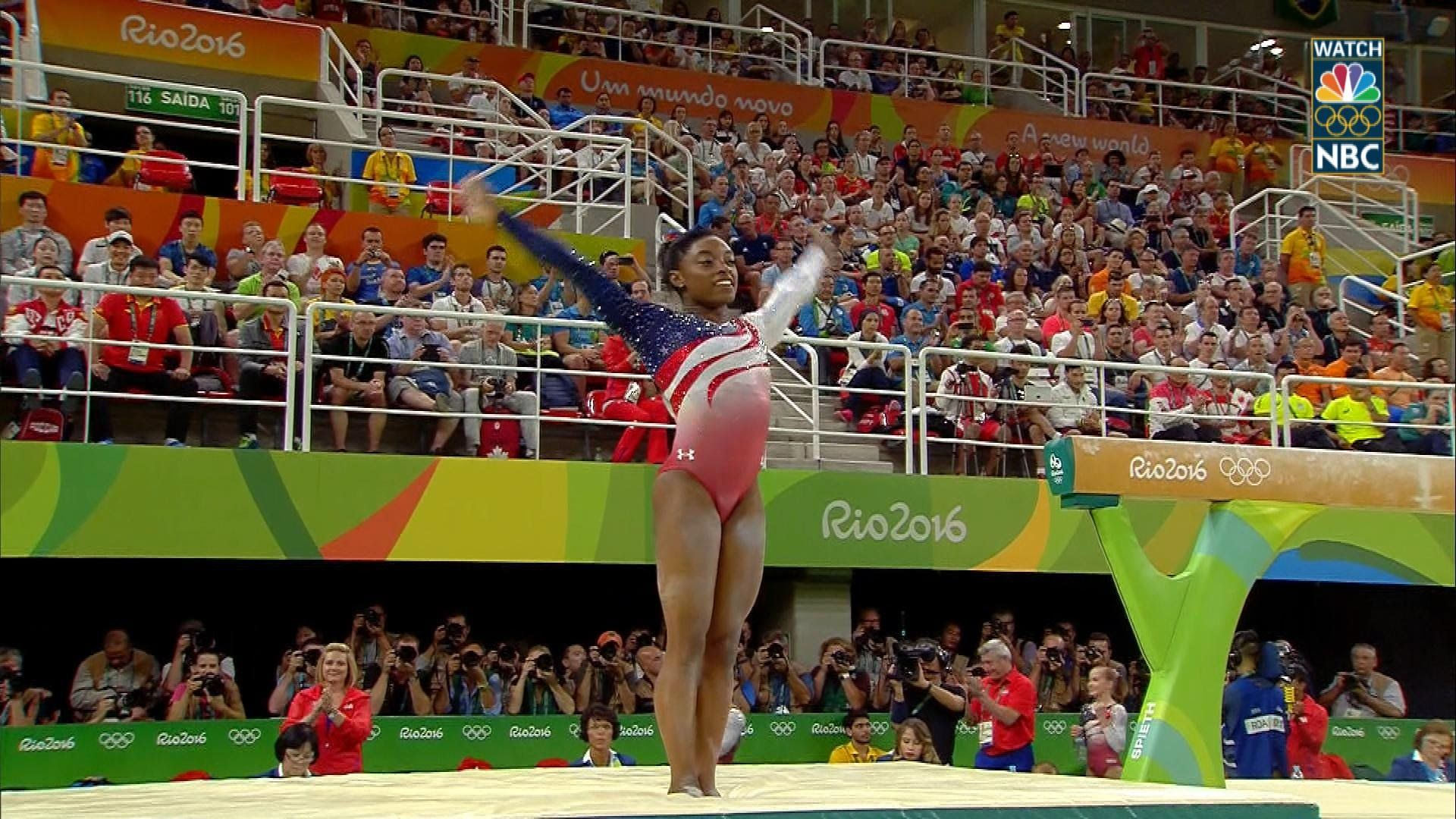 Simone Biles locks up gold for Team USA on beam