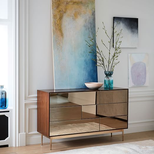 Nouveau Mirror 6 Drawer Dresser Westelm