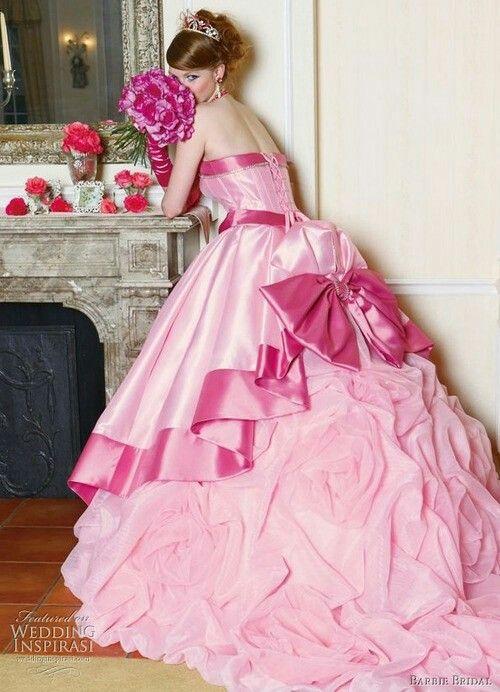 Pink Barbie Wedding Dress Up Games All For Women Pink Wedding Dresses Barbie Bridal Barbie Wedding Dress