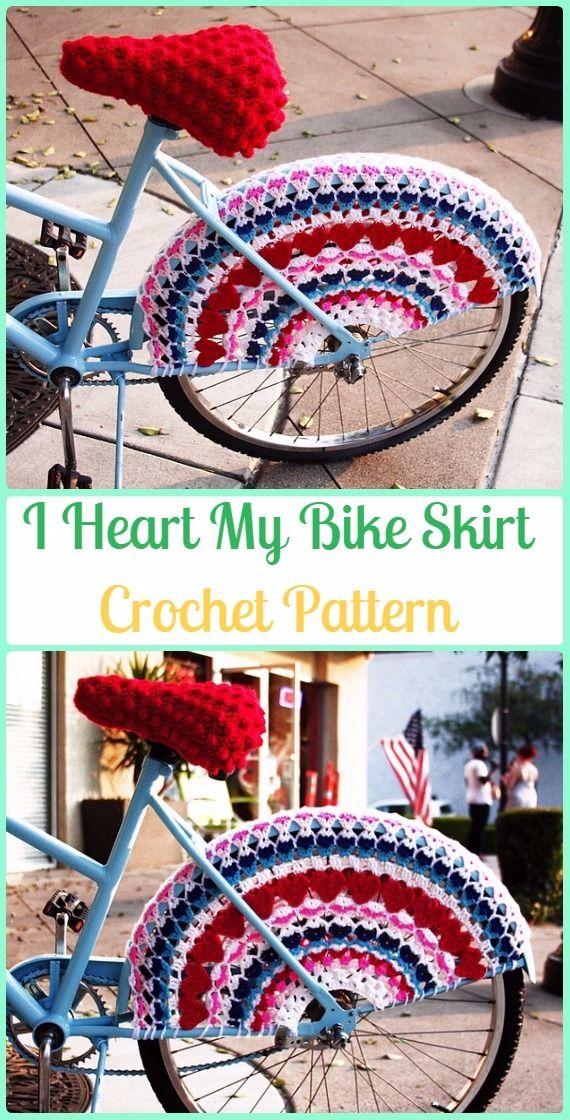 Crochet I Heart My Bike Skirt Guards Paid Pattern - Crochet Bicycle ...
