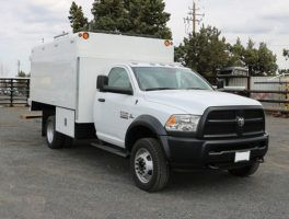 Ram 5500 Diesel Arbortech 11 12 Chipper Box Truck At Work Truck Direct Work Truck Trucks Bucket Truck