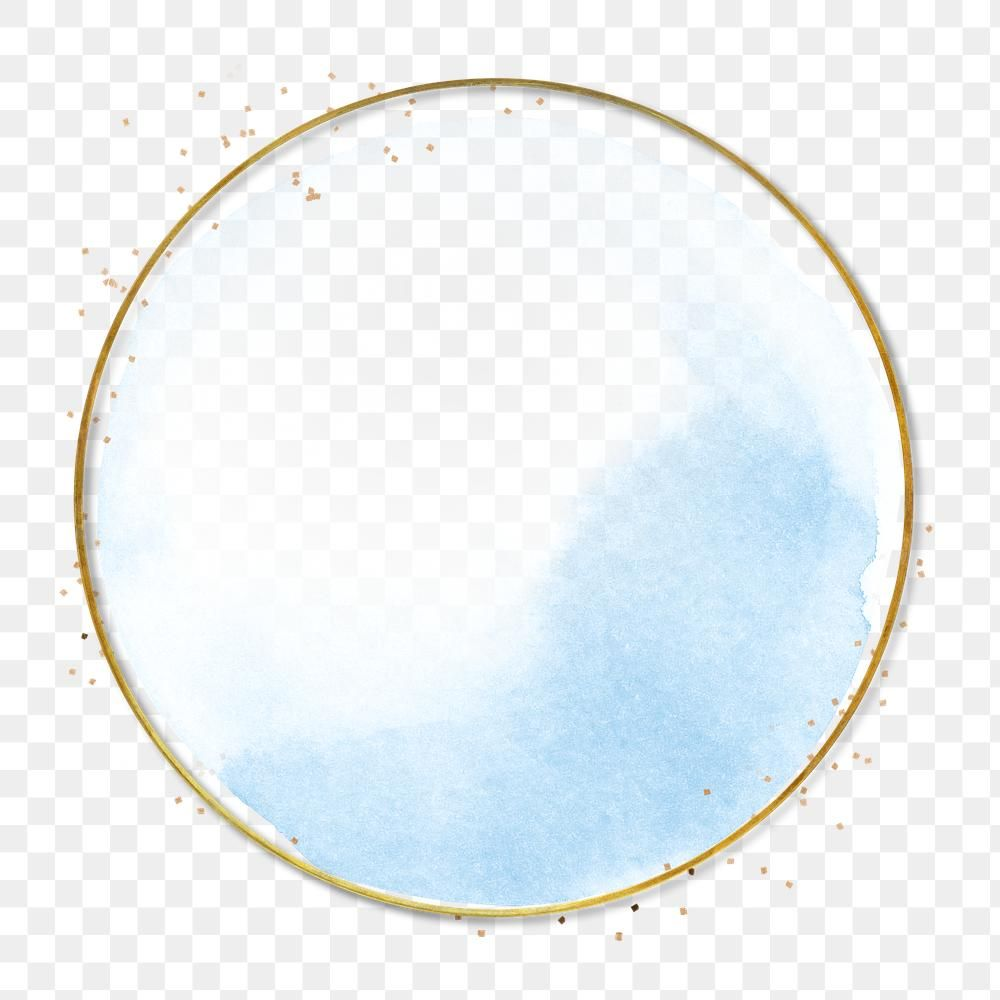 Gold Round Frame Design Element Free Image By Rawpixel Com Busbus Watercolor Circles Frame Design Gold Circle Frames
