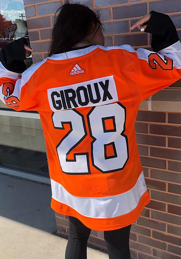 online store 4032b 80247 Adidas Claude Giroux Philadelphia Flyers Mens Orange 2017 ...