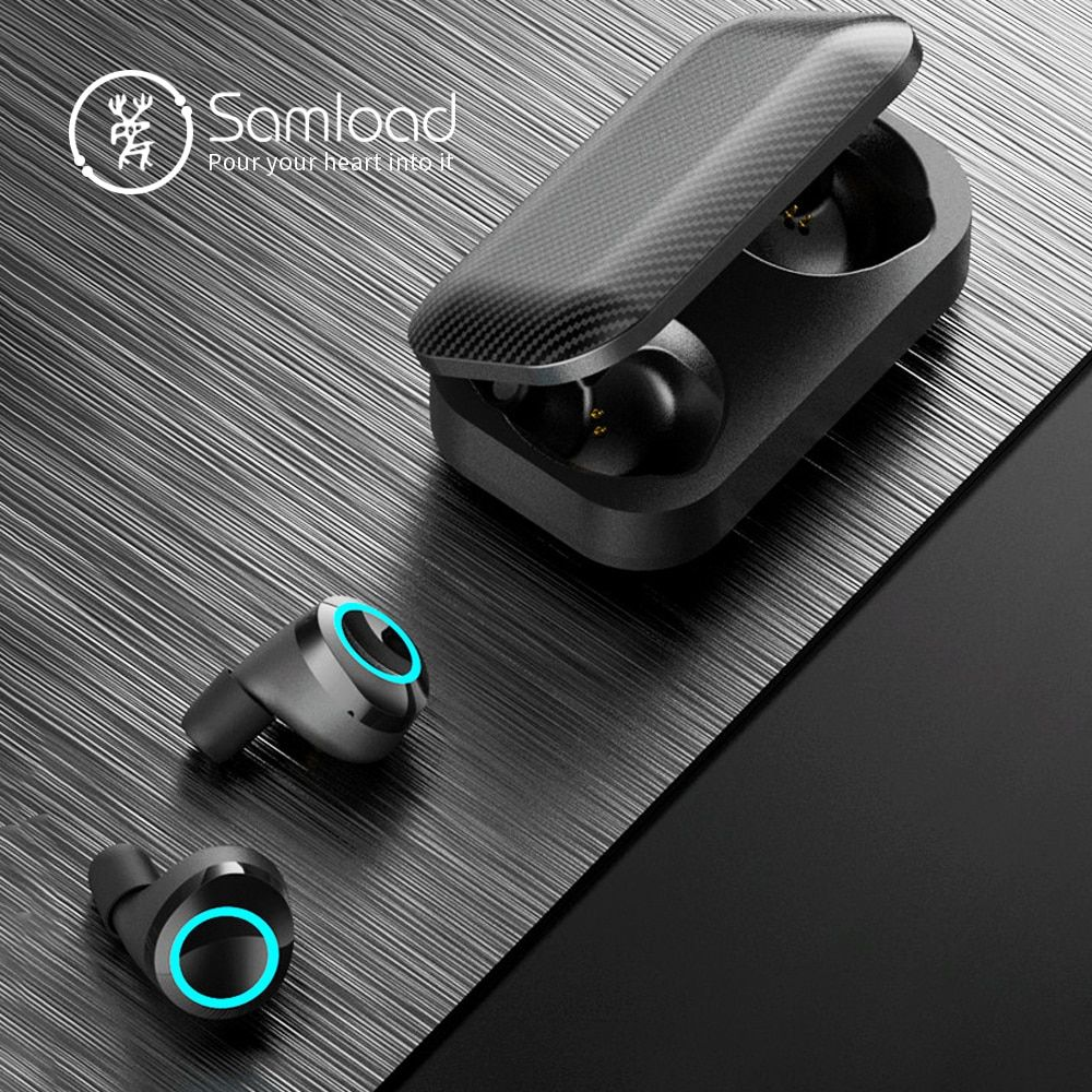 Lasuney Bluetooth 5 0 True Wireless Earbuds With Charging Case For Iphone Android 50h Cyclic Playtime Waterproo In 2020 Waterproof Headphones Wireless Earbuds Earbuds