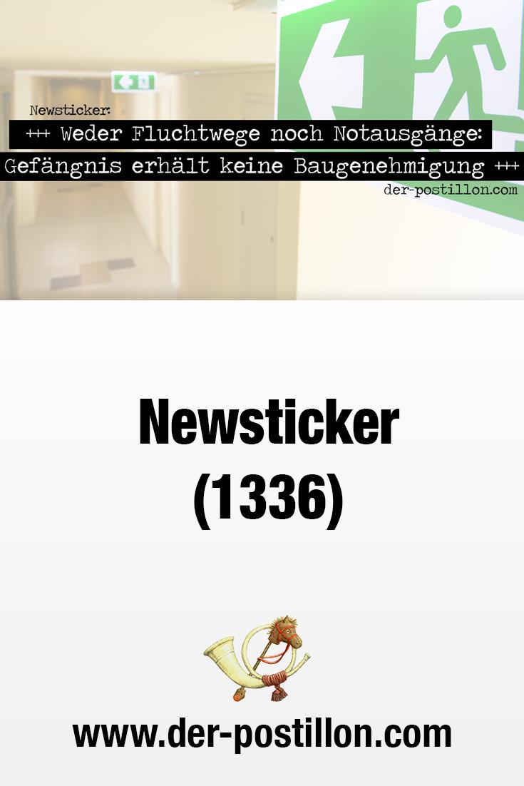 Newsticker 1336 Lehrling Witzig Baugenehmigung