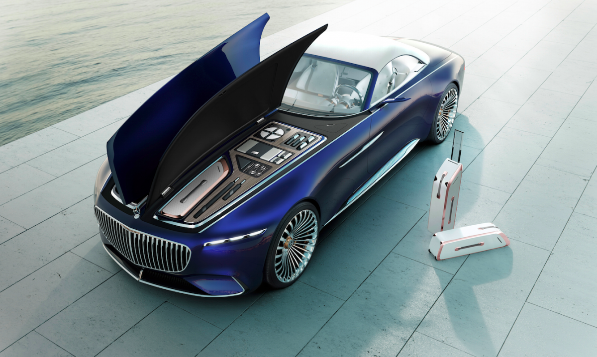 Mercedesmaybach just unveiled a stunning convertible concept car to