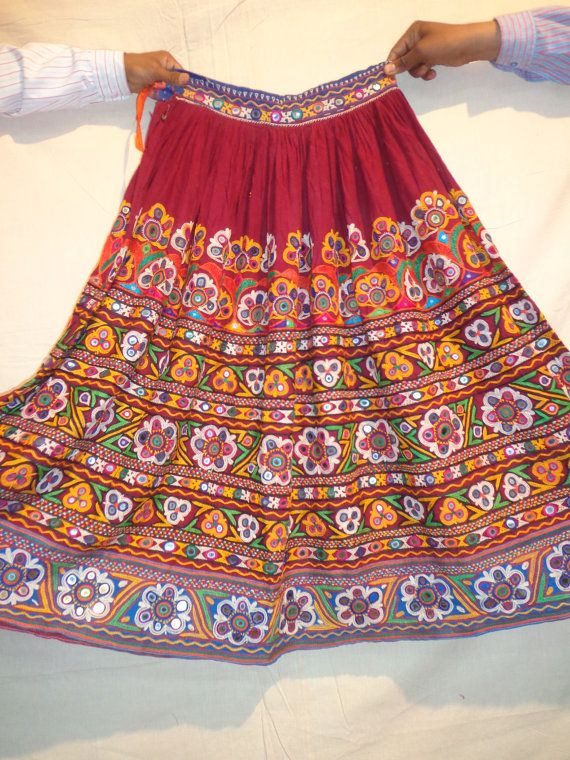 4ab76898d7 vintage skirts mirror work / banjara by jaisalmerhandloom on Etsy, $399.00
