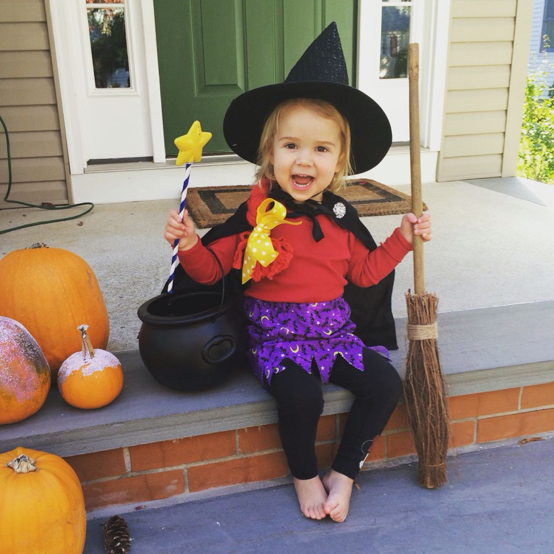 Easy DIY Room on the Broom Costume | Easy costumes, Witch costumes ...