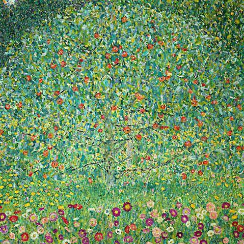 Digitaler Kunstdruck Individuelle Kunstkarte Gustav Klimt Apfelbaum I Klimt Apfelbaum Baum Des Lebens Malerei