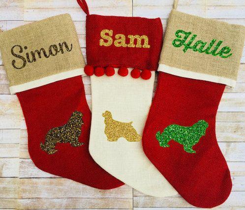 personalized dog christmas stocking pet holiday stocking custom burlap dog stocking cat stocking