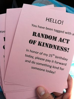 Parenting The Pipsqueak 25 Random Acts Of Kindness Kindness