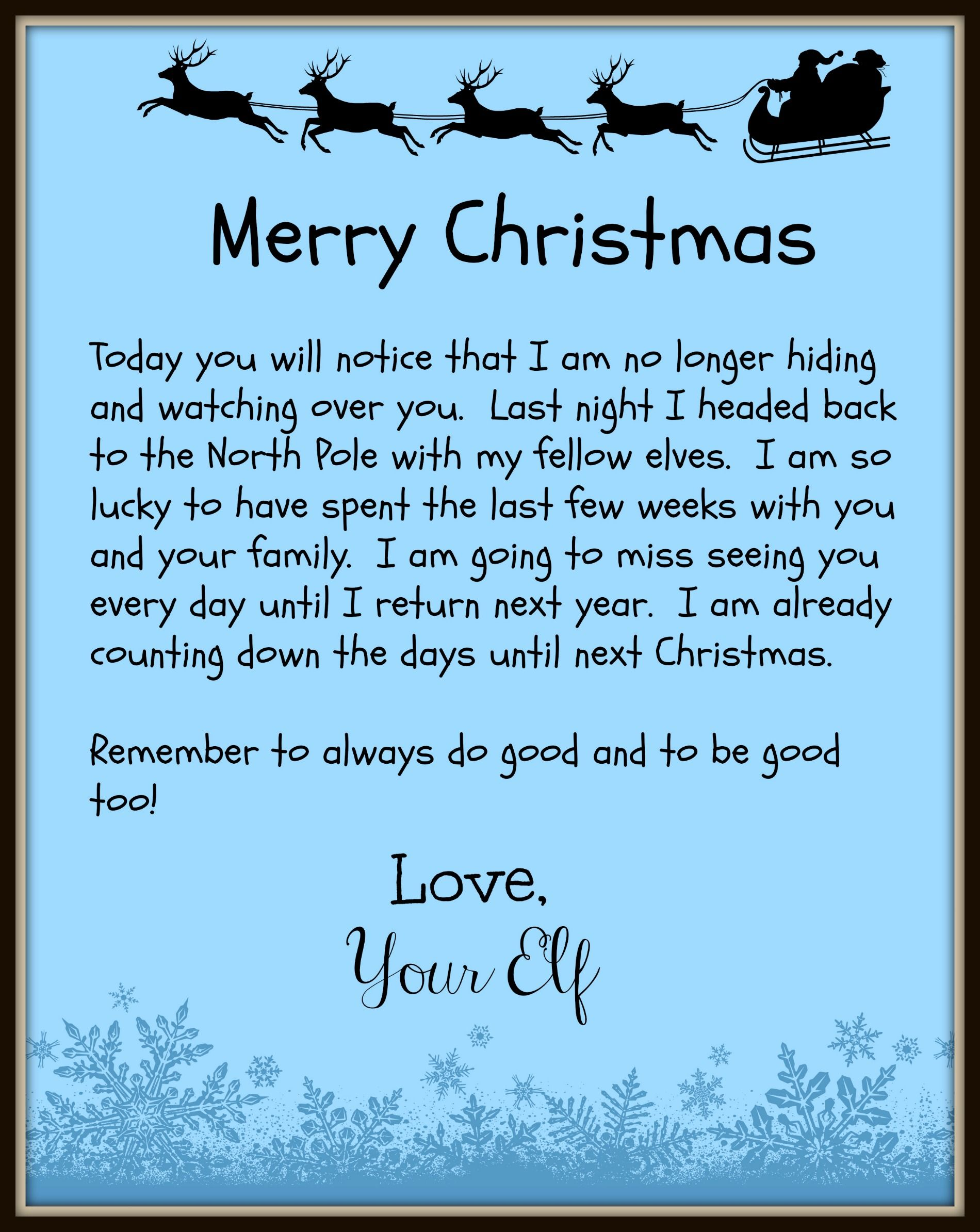 Printable Greeting Letter From Elf On The Shelf  Google Search