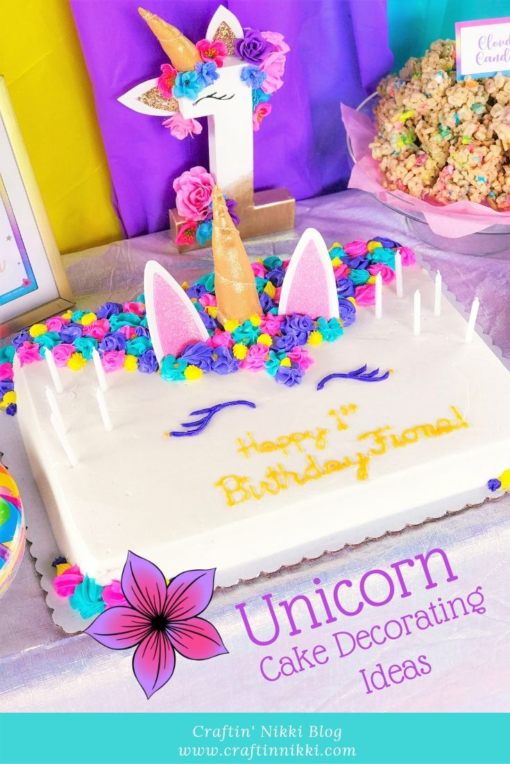 Craftin Nikki Blog Make Your Very Own Unicorn Cake This Party