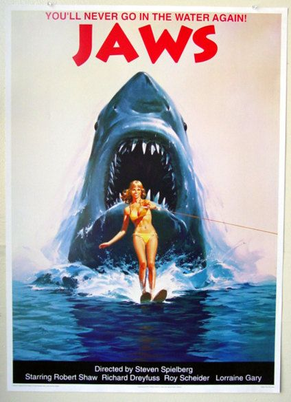 Jaws Poster Wall Art Decor Vintage Jaws Movie Poster Jaws 2 Shark 25 X 35 Japanese Movie Poster Jaws Movie Poster Jaws 2