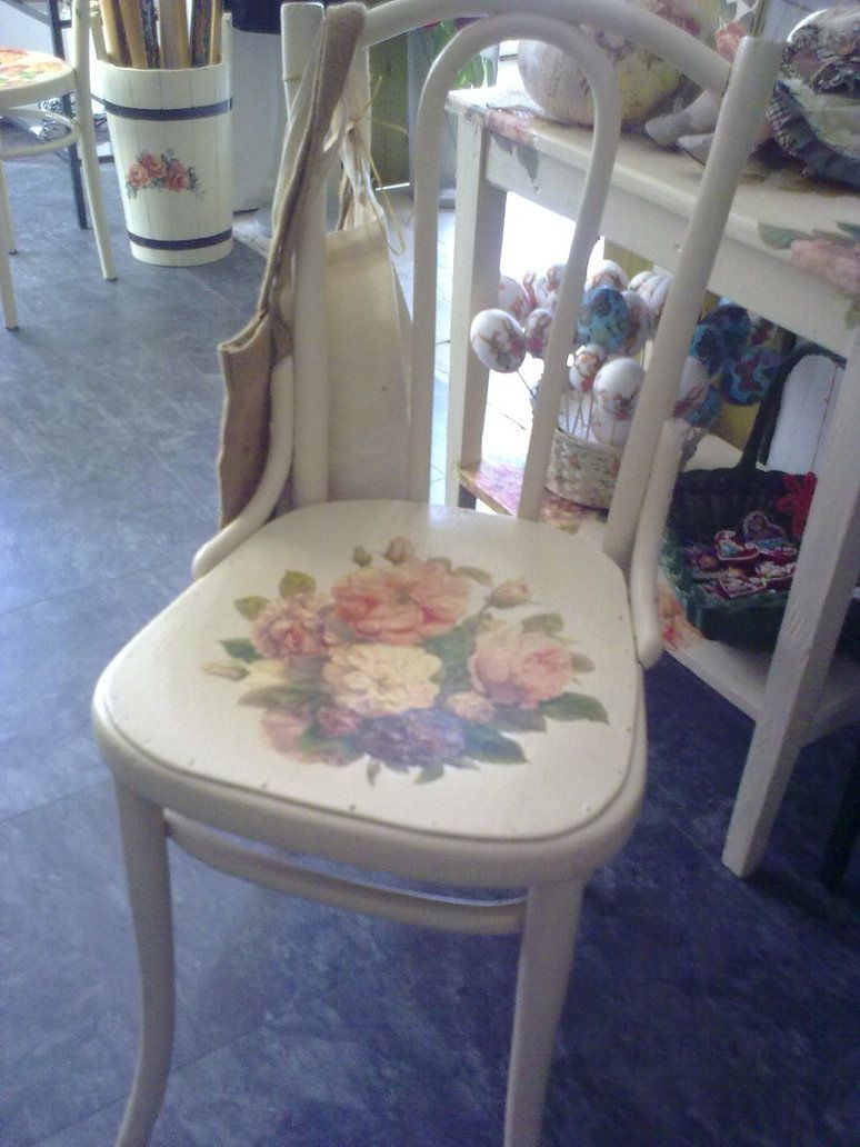 Decoupage - Chair by 13th-Tale