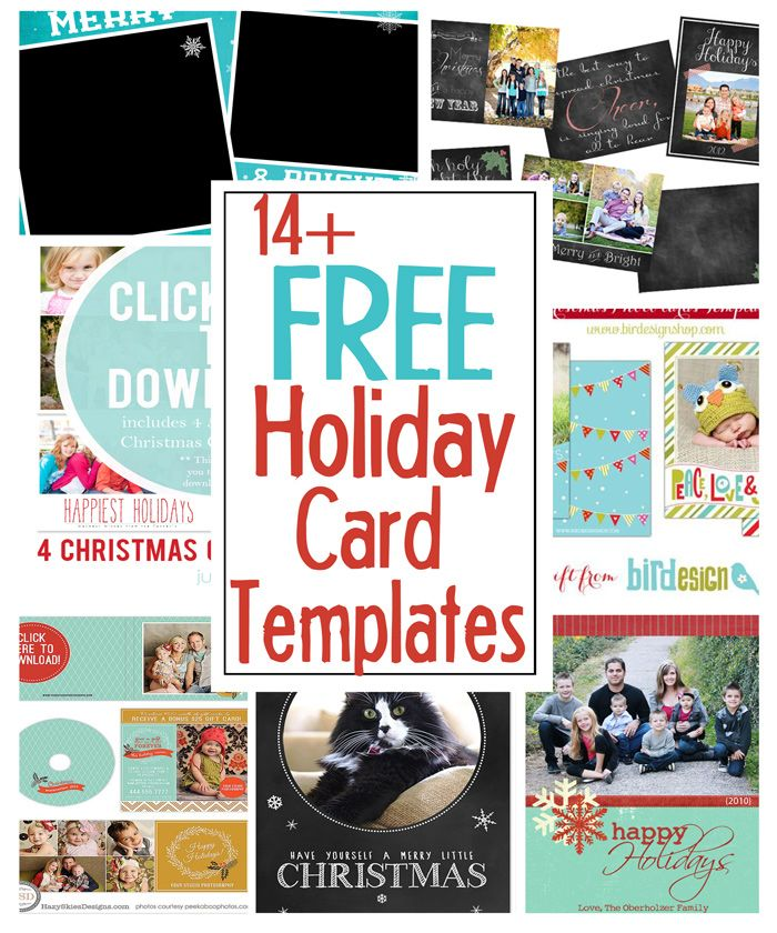 Diy Holiday Postcards   Free Holiday Card Templates  Holidays