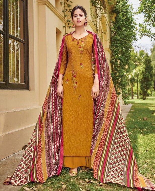 Indian Pakistani Salwar Kameez Pure Cotton Unstitched/ Stitched Dress Material Suit with Mal Mal