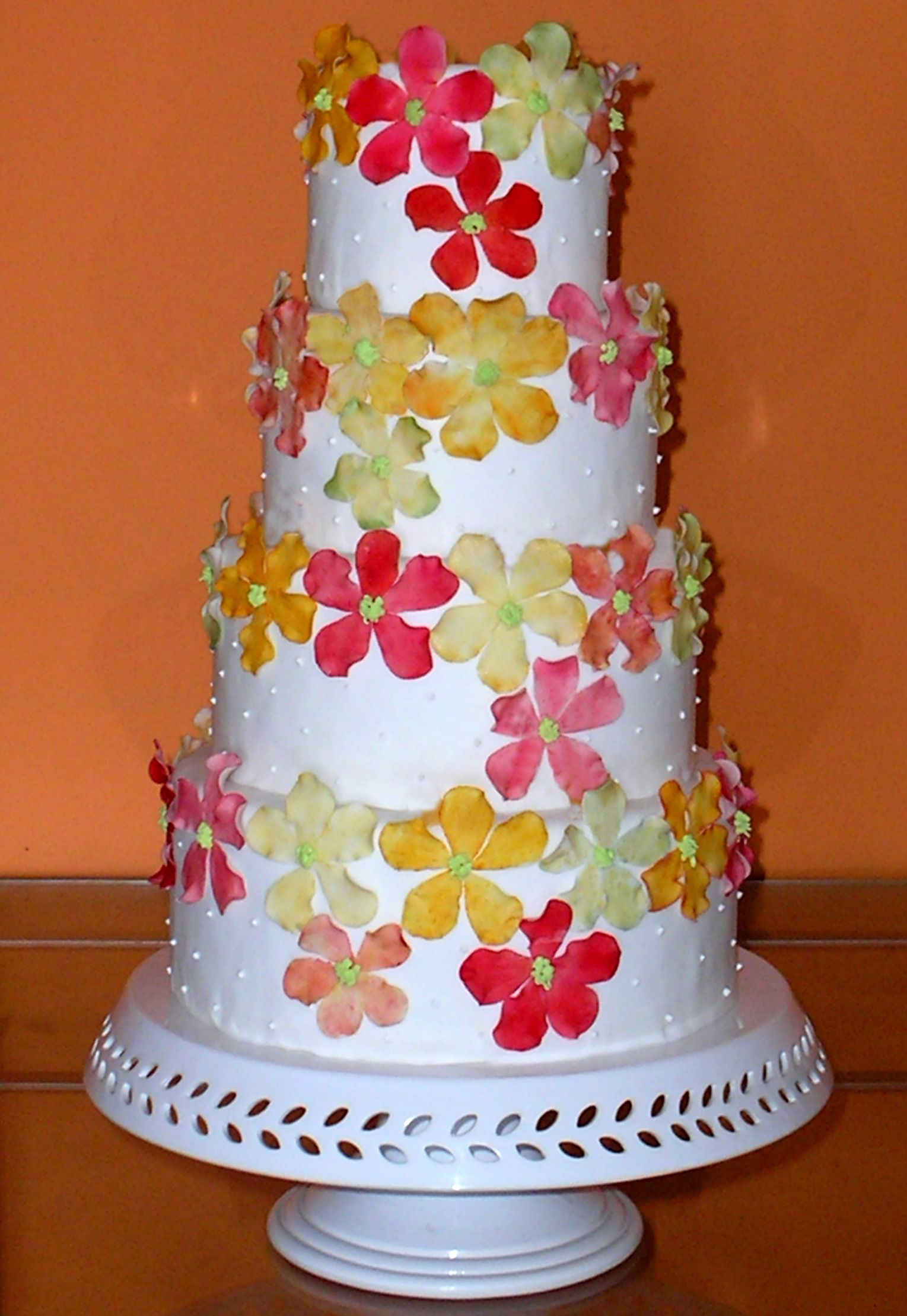 Spring cakecolorful wedding cake my work pinterest colorful