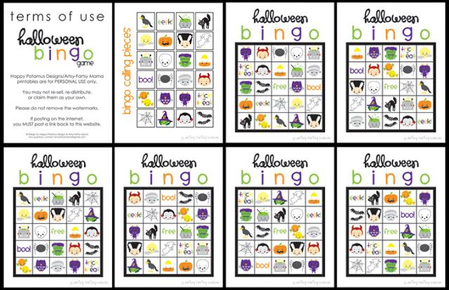 image regarding 25 Printable Halloween Bingo Cards referred to as No cost Printable Halloween Bingo Halloween Decor, Snacks