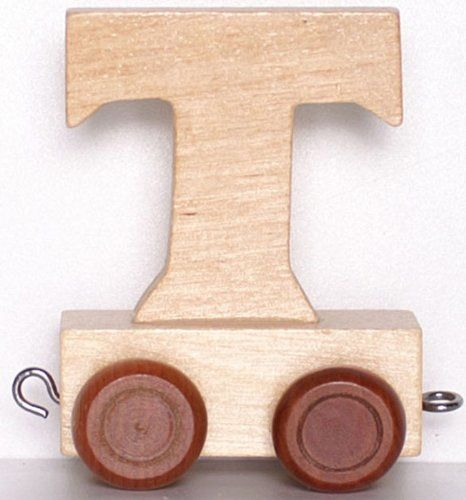 Childrens Personalised Wooden Alphabet Letter Train A Z