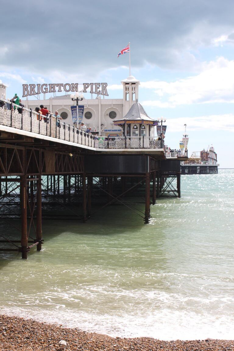 Things to do in Brighton England by a local: Royal Pavilion, Brighton Palace Pier, Brighton Beach, Brighton i360, The Lanes, North Laine, Volk's Electric Railway