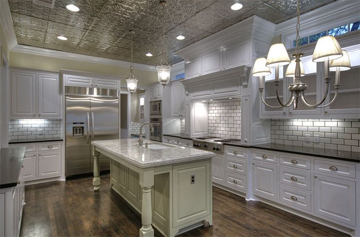 tin ceiling kitchen - Google Search | french country style ideas ...