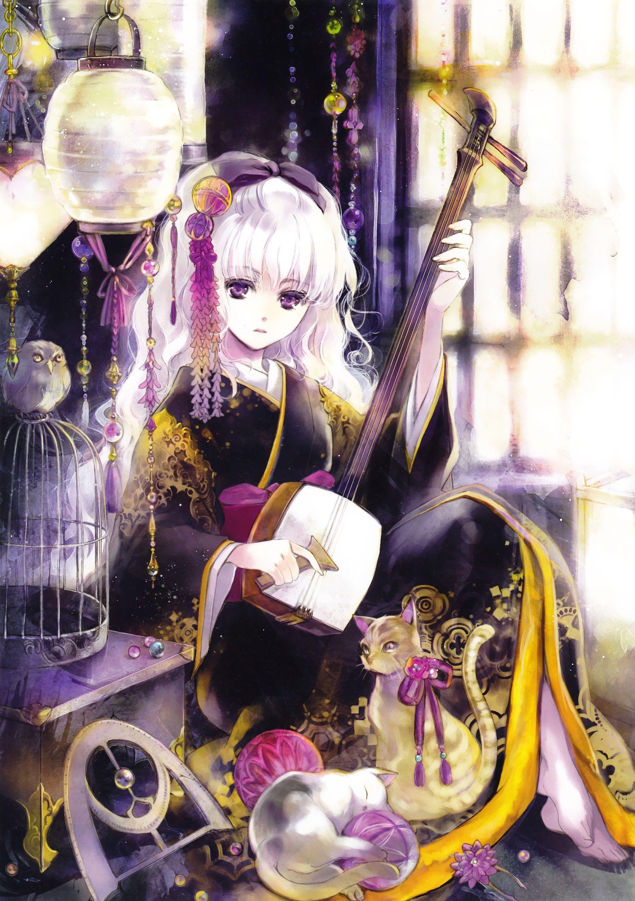 Pretty Anime Anime Kimono Anime Japanese Illustration