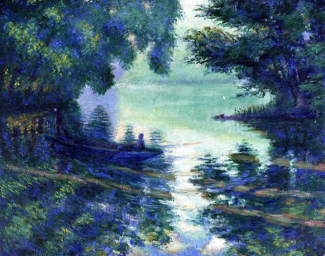 The Seine near Giverny ~ Theodore Earl Butler