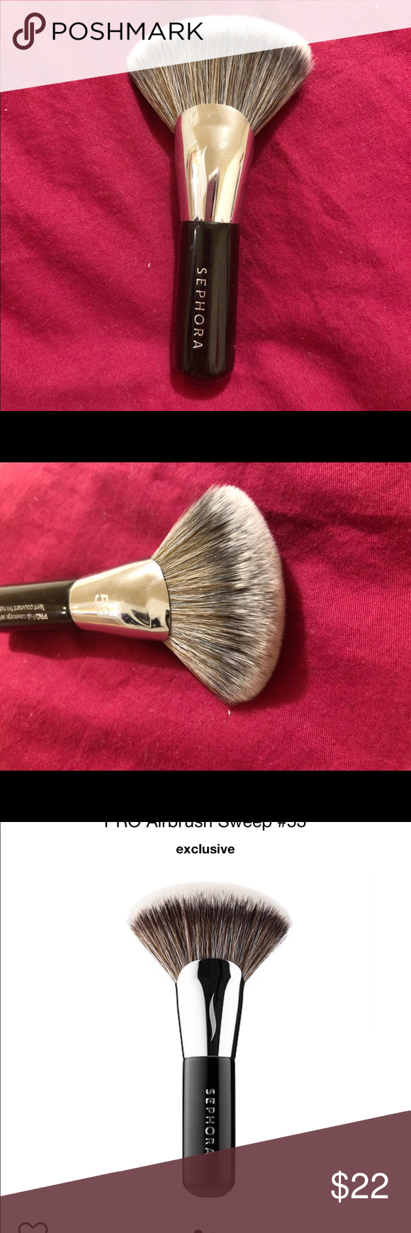 Sephora pro airbrush sweep foundation brush 53 This is a
