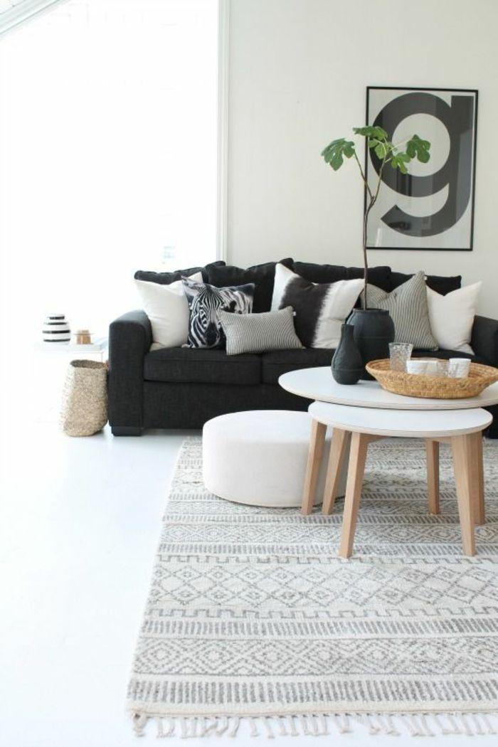wohnzimmer skandinavischer teppich skandinavische möbel | wohnen ... - Skandinavisch Wohnen Wohnzimmer