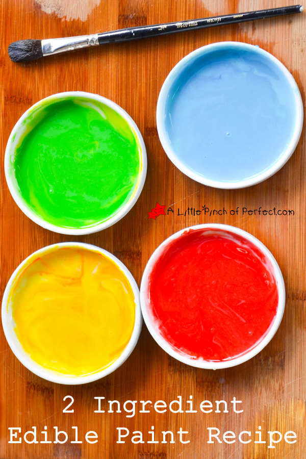 2 Ingredient Edible Paint Recipe (Toddler Safe) - | Edible paint ...