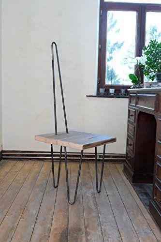 Chaise Design En Bois Et Metal Amazon Fr Handmade Trouver Mes