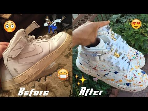 b1baf06069b3 Nike Air Force One FULL RESTORATION CUSTOMIZATION - YouTube