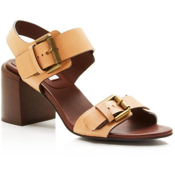 8bc0fa4e93e See By Chloe Romy Buckled Block Heel Sandals ( 320) ❤ liked on Polyvore  featuring shoes