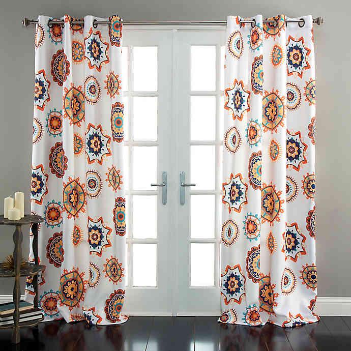 Adrianne 84 Inch Room Darkening Window Curtain Panel Pair In White