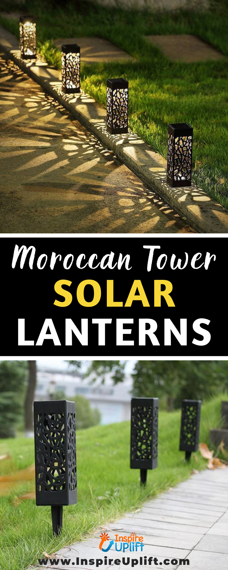 Moroccan Tower Solar Lanterns 😍 InspireUplift.com