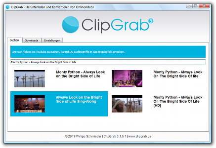 ClipGrab - free software for downloading and converting