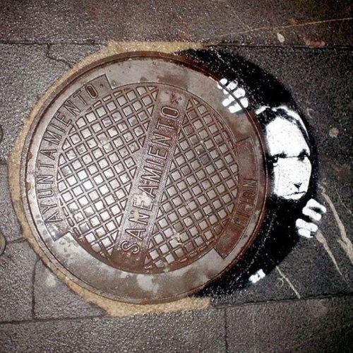 Ingenious Street Graffiti #art #street art #graffiti