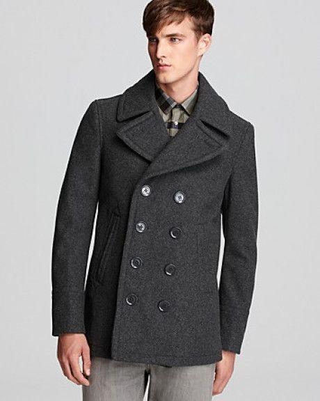 Charcoal Grey Peacoat | Men's Fashion | Pinterest