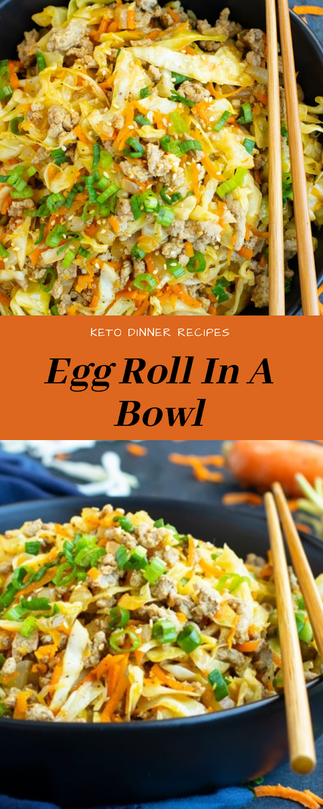 Keto Dinner Recipes | Egg Roll In A Bowl #eggrollinabowl