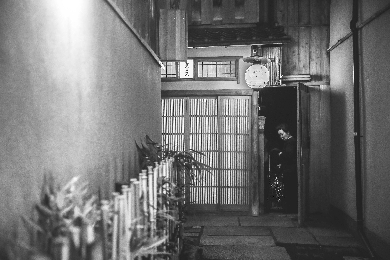 Fotografia in bianco e nero, stampa Giappone, travel e