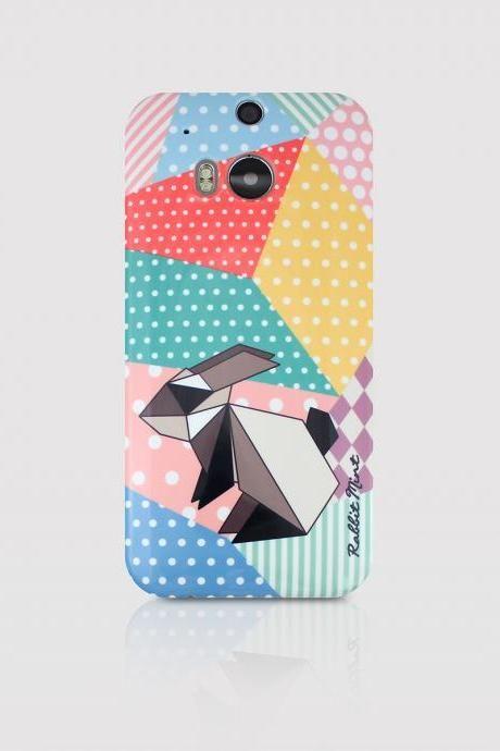HTC One M8 Case - Origami Rabbit (P00057)