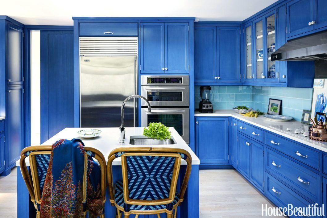Image result for kitchens with blue backsplash # ...